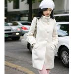 lady in white winter coat