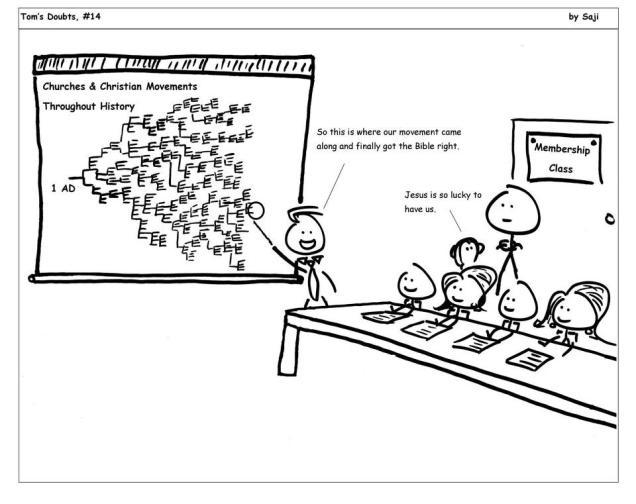 church history chart cartoon
