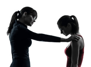 woman consoling woman