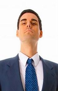 Arrogant Man in Suit