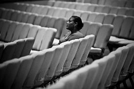 sitting alone in church