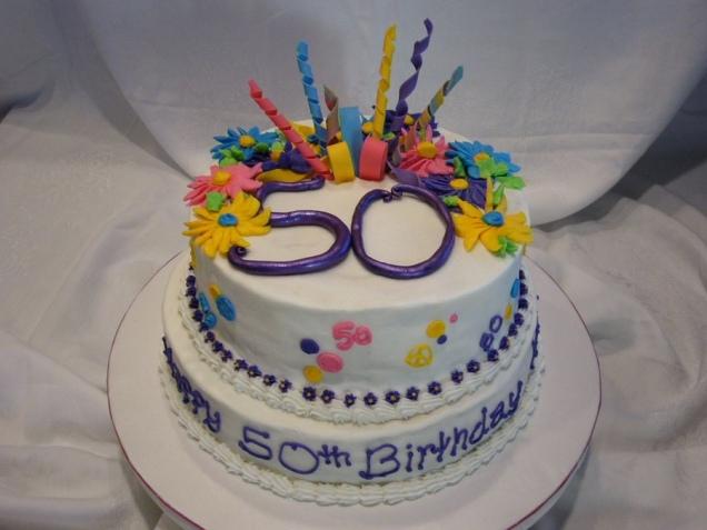 50 birthday cake