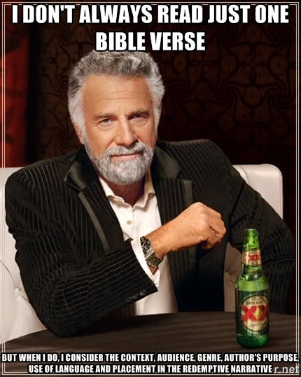 not just one bible verse meme