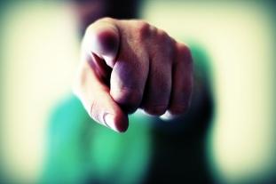 pointed finger